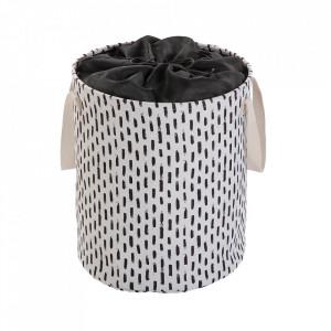 Cos de rufe alb/negru din textil 33x50 cm Lauren Versa Home
