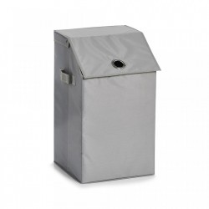 Cos de rufe gri din poliester 34x60 cm Laundry Collector Flap Zeller