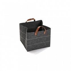 Cos gri din fetru Big Dark Basket Versa Home