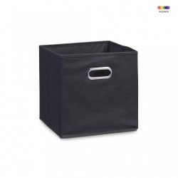Cos negru din fleece Storage Box Black Zeller
