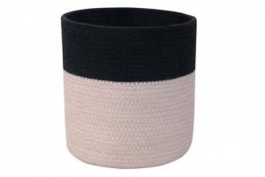 Cos negru/gri perlat din bumbac Dual Black-Pearl Grey Lorena Canals