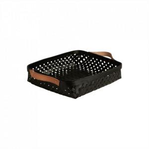 Cos pentru paine negru din bambus Sporta Oyoy