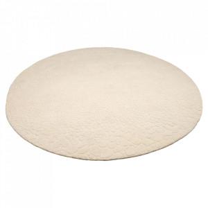 Covor alb din lana 250 cm Edla Bolia