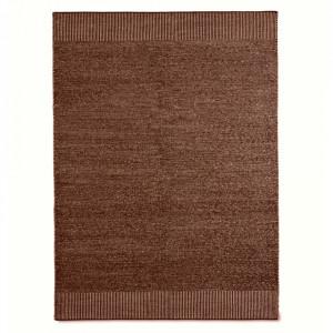 Covor alb/maro ruginiu din lana si iuta 170x240 cm Rombo Woud