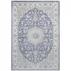 Covor albastru/argintiu din bumbac si viscoza 160x230 cm Orient Keshan The Home