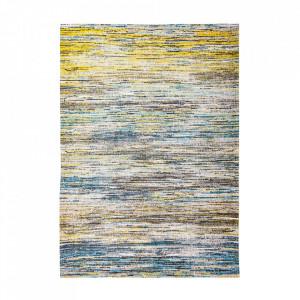 Covor albastru/galben din bumbac Sari Blue Yellow Mix Louis de Poortere (diverse dimensiuni)