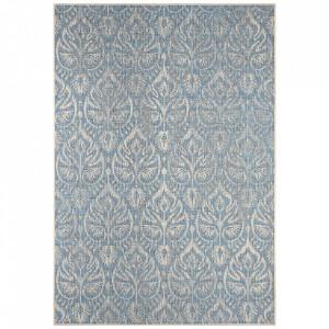 Covor albastru/grej din polipropilena pentru exterior Jaffa Choy Blue Taupe Bougari (diverse dimensiuni)