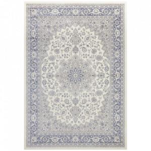 Covor crem/albastru din bumbac si viscoza 160x230 cm Modern Orient The Home