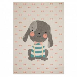 Covor crem/gri pentru copii 170x120 cm Puppy Berry Zala Living