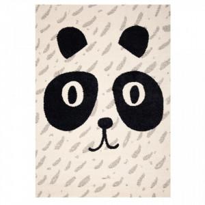 Covor crem/negru pentru copii 170x120 cm Panda Elliot Zala Living