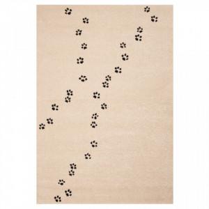 Covor crem pentru copii 170x120 cm Paw Prints Ted Zala Living
