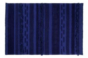 Covor dreptunghiular albastru din bumbac 170x240 cm Air Alaska Blue Lorena Canals