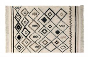 Covor dreptunghiular crem din bumbac 140x215 cm Bereber Ethnic Lorena Canals