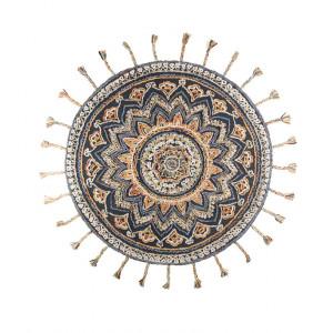 Covor lana rotund cu franjuri 170 cm Pixel Dutchbone