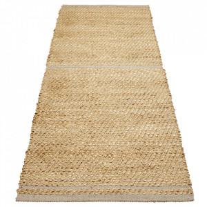 Covor maro/gri din iuta si lana 80x250 cm Conwy Bolia