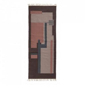 Covor multicolor din lana 75x200 cm Blush Nordal