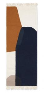 Covor multicolor din lana si bumbac 70x180 cm Kelim Merge Ferm Living