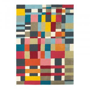 Covor multicolor din lana si viscoza Estella Domino Brink & Campman (diverse dimensiuni)