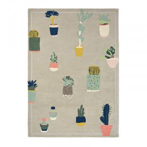 Covor multicolor din lana TB Cactus-Grey Brink & Campman (diverse dimensiuni)