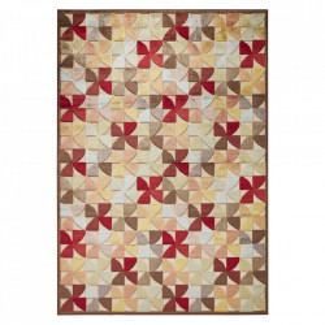 Covor multicolor din viscoza si poliester Creative Ailette Multi Elle Decor (diverse dimensiuni)