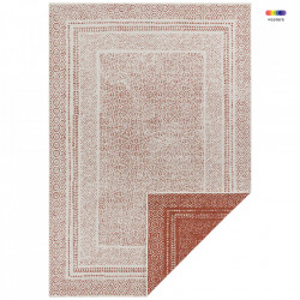 Covor reversibil rosu/crem din polipropilena pentru exterior Retro The Home (diverse dimensiuni)