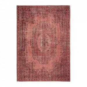 Covor rosu din bumbac si poliester Palazzo Borgia Red Louis de Poortere (diverse dimensiuni)