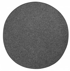 Covor rotund negru Wolly BT Carpets