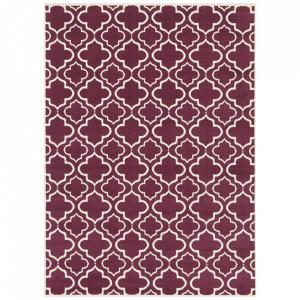 Covor violet/crem din polipropilena Retro Geometric The Home (diverse dimensiuni)