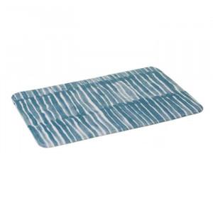 Covoras albastru/alb din microfibra pentru baie 45x70 cm Drip Unimasa
