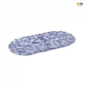 Covoras albastru din PVC pentru baie 34x67 cm Bitt Unimasa