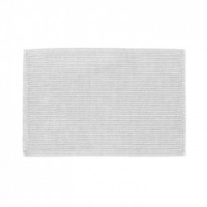 Covoras pentru baie din bumbac alb 60x40 cm Miekki La Forma