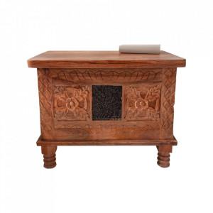 Cufar maro din lemn de mango Mystic Invicta Interior