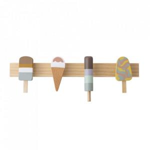 Cuier multicolor din lemn de fag Ice Cream Bloomingville Mini