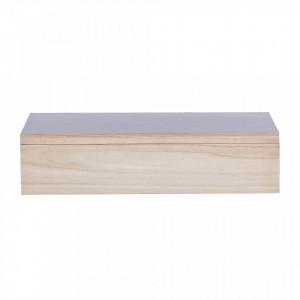 Cutie cu capac maro din lemn de paulownia Trina Bloomingville