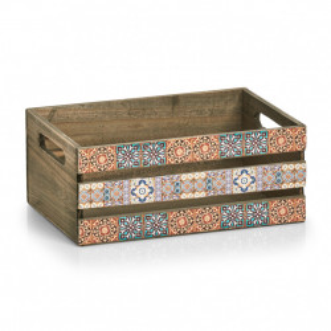 Cutie multicolora din lemn si placaj Mosaic Big Zeller