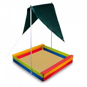 Cutie pentru nisip cu acoperis din lemn si textil Mano Small Foot