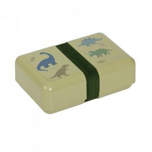Cutie pentru pranz verde din polipropilena Dinosaurs A Little Lovely Company
