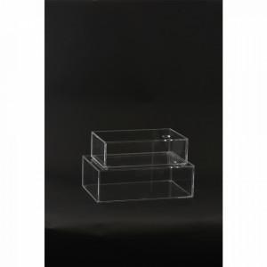 Cutie transparenta din plastic acrilic Hang House Doctor