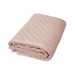 Cuvertura matlasata roz din bumbac 140x200 cm Faust Dusty Rose Cam Cam
