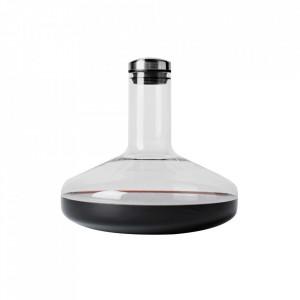 Decantor cu dop transparent/argintiu din sticla 20x21 cm Thea Menu