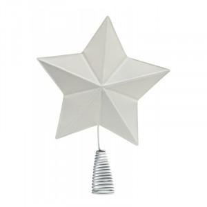 Decoratiune alba din metal 32 cm Star Nordal