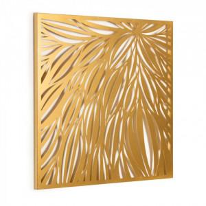 Decoratiune aurie din metal pentru perete 60x60 cm Danesa La Forma