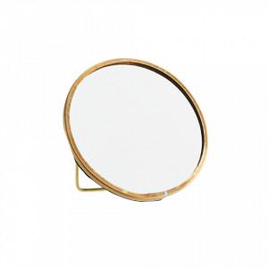 Decoratiune cu oglinda maro alama din fier 10 cm Seby Madam Stoltz