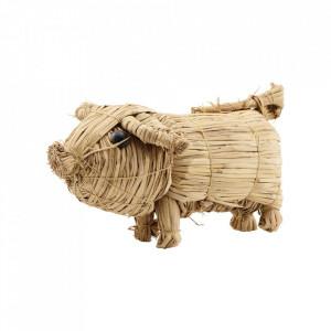 Decoratiune din paie de grau Large Pig Nicolas Vahe