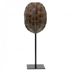 Decoratiune din polirasina si metal maro 36 cm Turtle Brown HK Living