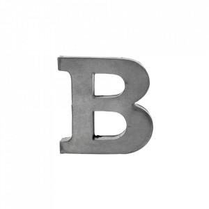 Decoratiune gri din fier 5,5 cm Letter B Madam Stoltz