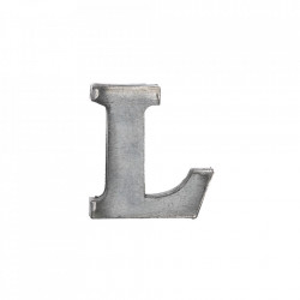 Decoratiune gri din fier 5,5 cm Letter L Madam Stoltz