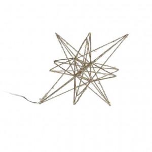 Decoratiune luminoasa aurie din fier Nicoletta La Forma