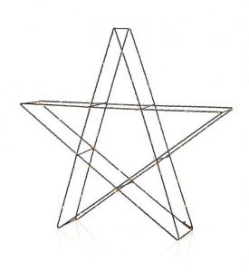 Decoratiune luminoasa LED neagra din metal pentru exterior Mystic Star 3D Markslojd