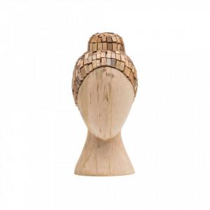 Decoratiune maro din lemn 31 cm Witness Be Pure Home